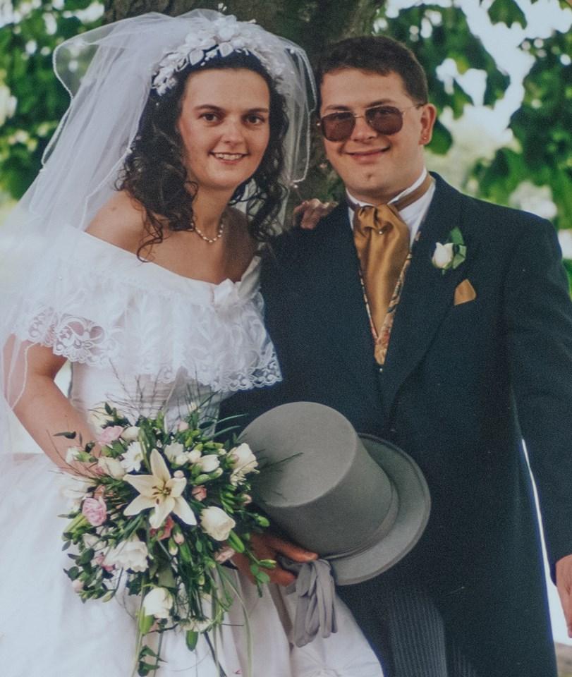 Inappropriate LinkedIn profile image taken on wedding day