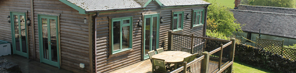 Log cabins at Hoe Grange Holidays