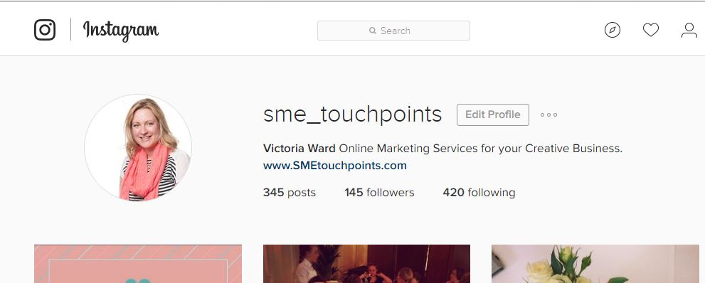 SME Touchpoints Instagram profile