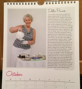 Della Prince as Miss October in the charity calendar