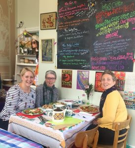 Victoria Prince, Lindsay Trevarthen and Vicky Fox at Vegan Revolution in Belper