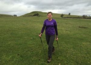 Janneke Gorseman teaching to nordic walk