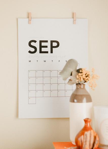 September Marketing Calendar by Victoria Prince