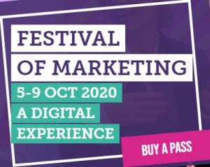 The Festival of Marketing logo for 2020